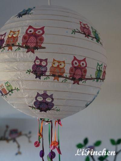 Lifinchen diy papierlampe aufpeppen diy - Papierlampe kinderzimmer ...