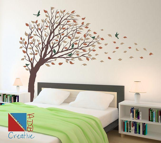 Elegant Wandtattoo Baum Mit Vögeln Herbst   Romantisch Von Wall Decor Shop By  CreativeADB Auf DaWanda.