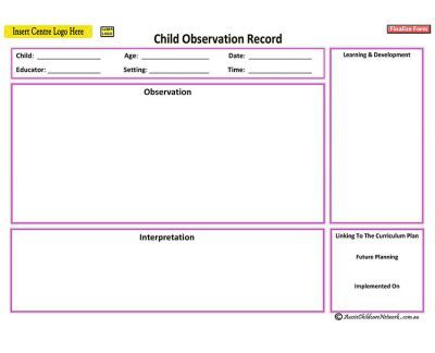 This template is used as an anecdotal record to use as for Anecdotal assessment template