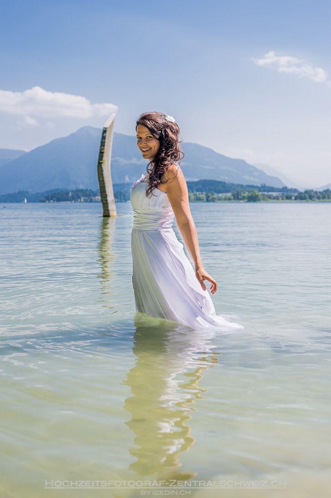 Hochzeit Im Wasser Hochzeitsfotograf Zug Hochzeitsfotograf Zentralschweiz Luzern Obwalden Nidwalden Hochzeitsfotograf Fotograf Hochzeit