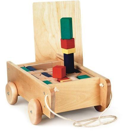 Carro de madera con bloques de colores de Egmont Toys   muebles ...