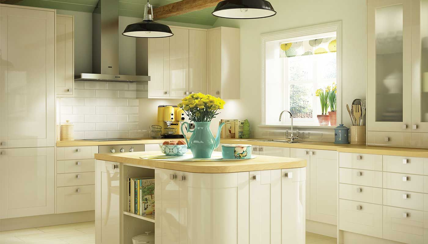 Cream Kitchen Design Cream Shaker Kitchens With Cream Counters Google Search
