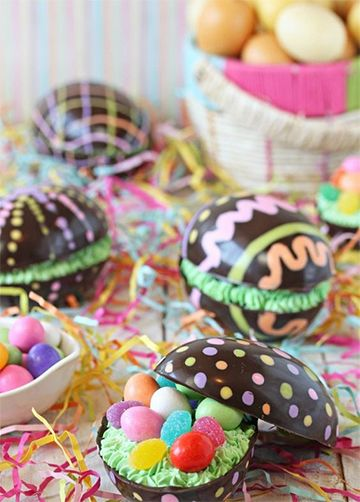 ideas para pascua de resurreccion brownie sorpresa