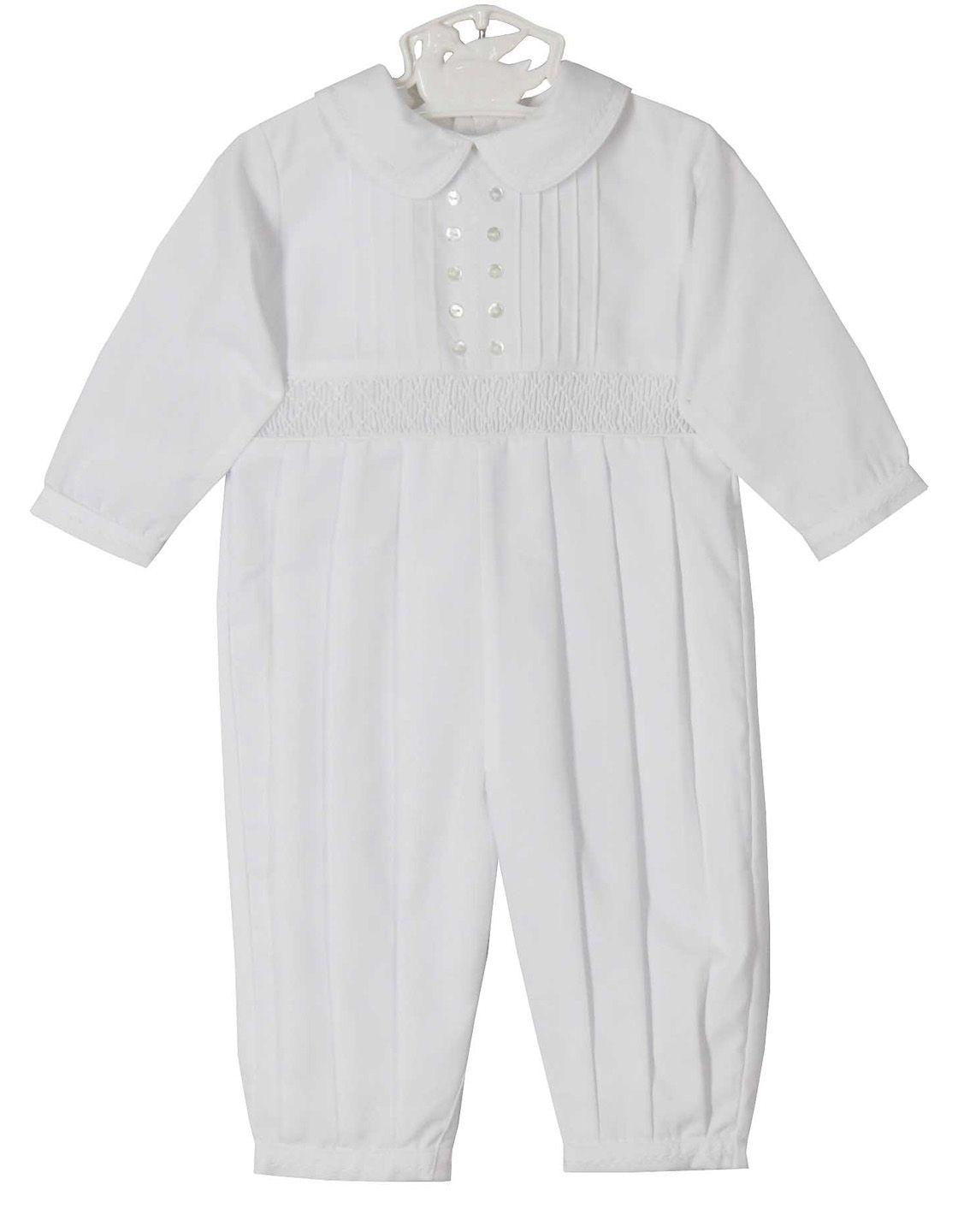 02b8932c8 NEW Sarah Louise White Smocked Romper with Pintucks and White ...