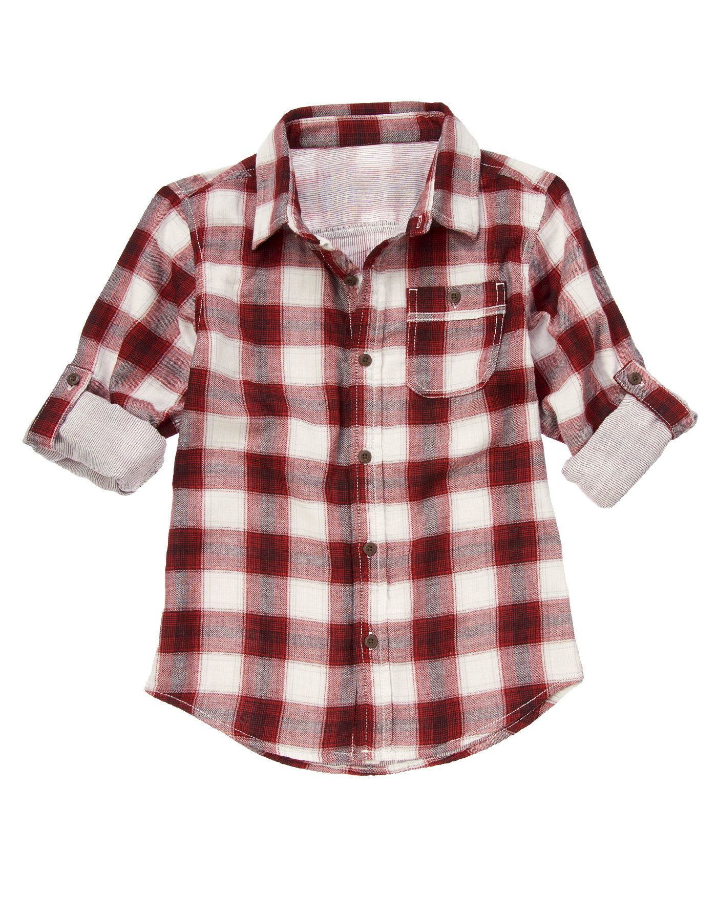 Extra soft plaid shirt with stripe lining and cool pockets.