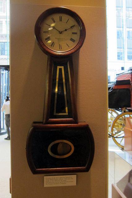 San Francisco Financial District Wells Fargo History Museum Banjo Clock Antique Wall Clock Antique Clocks Clock