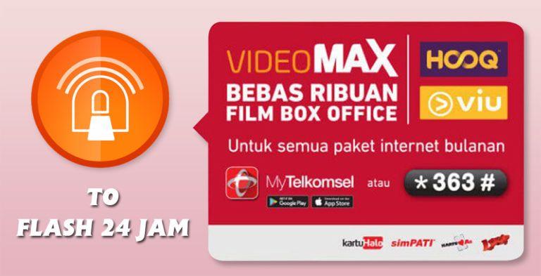 Untuk Pengguna Telkomsel Yang Saat Ini Memiliki Kuota Videomax Namun Tidak Terpakai Anda Bisa Mengubahnya Menjadi Kuota Reguler Dengan Internet Aplikasi Film