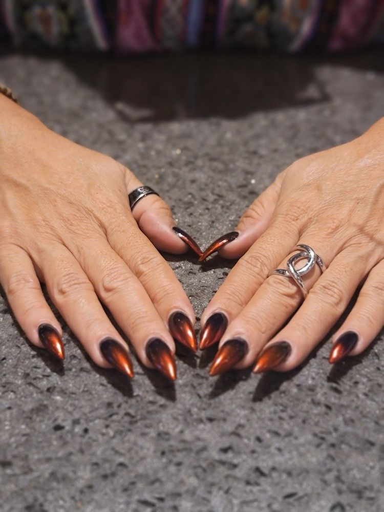 #nails #hombrenails #stilettonails #naildesigns