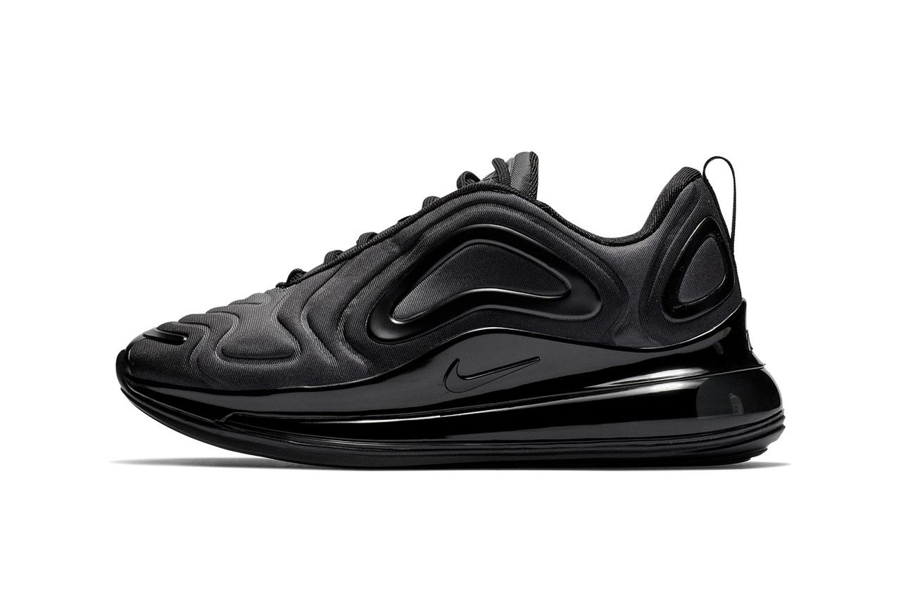 668f25adf57f7 Nike Air Max 720 Triple Black First Look Shoes Trainers Kicks Sneakers  Footwear Release Details Closer All Subtle Minimalist
