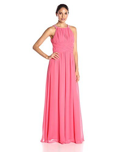6d1adcedaf77 Jessica Howard Womens Maxi Dress with Criss Cross Waist Melon 6 >>> Check  this awesome product by going to the link at the image.