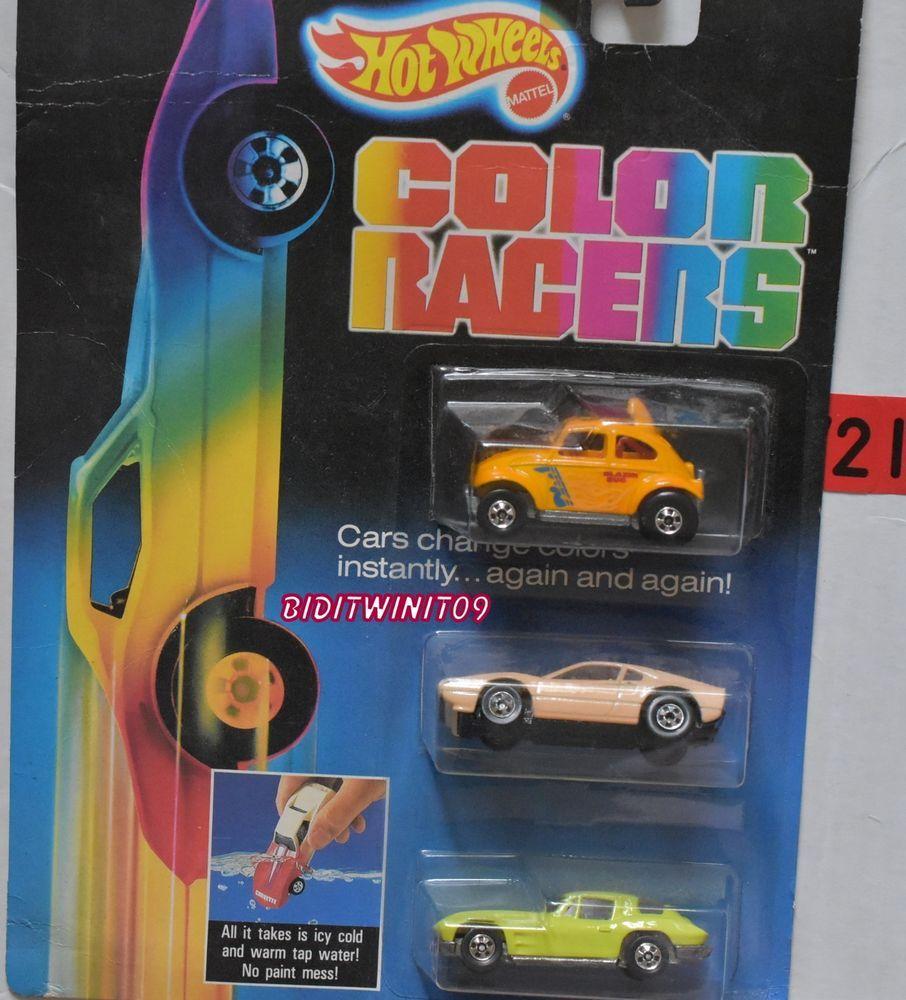 Hot Wheels 1987 Color Racers Baja Bug Ferrari 308 Corvette W Hot Wheels Corvette Ferrari