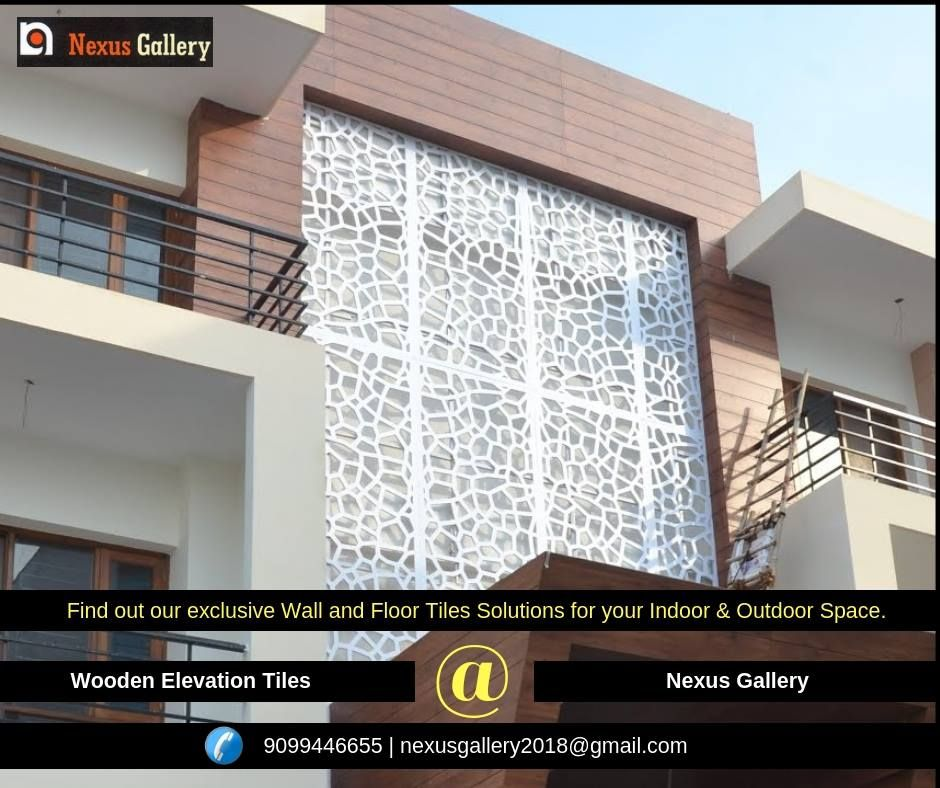 Exterior Wall Tiles Designs Indian Houses Single Floor: Wooden Elevation Tiles Find Out Our Exclusive Wall And