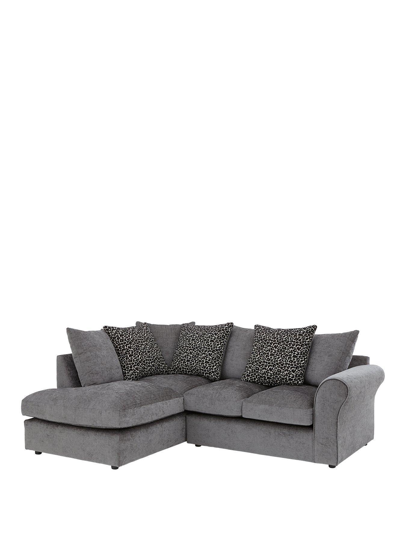 Nala Left Hand Fabric Corner Chaise Sofa Very Co Uk