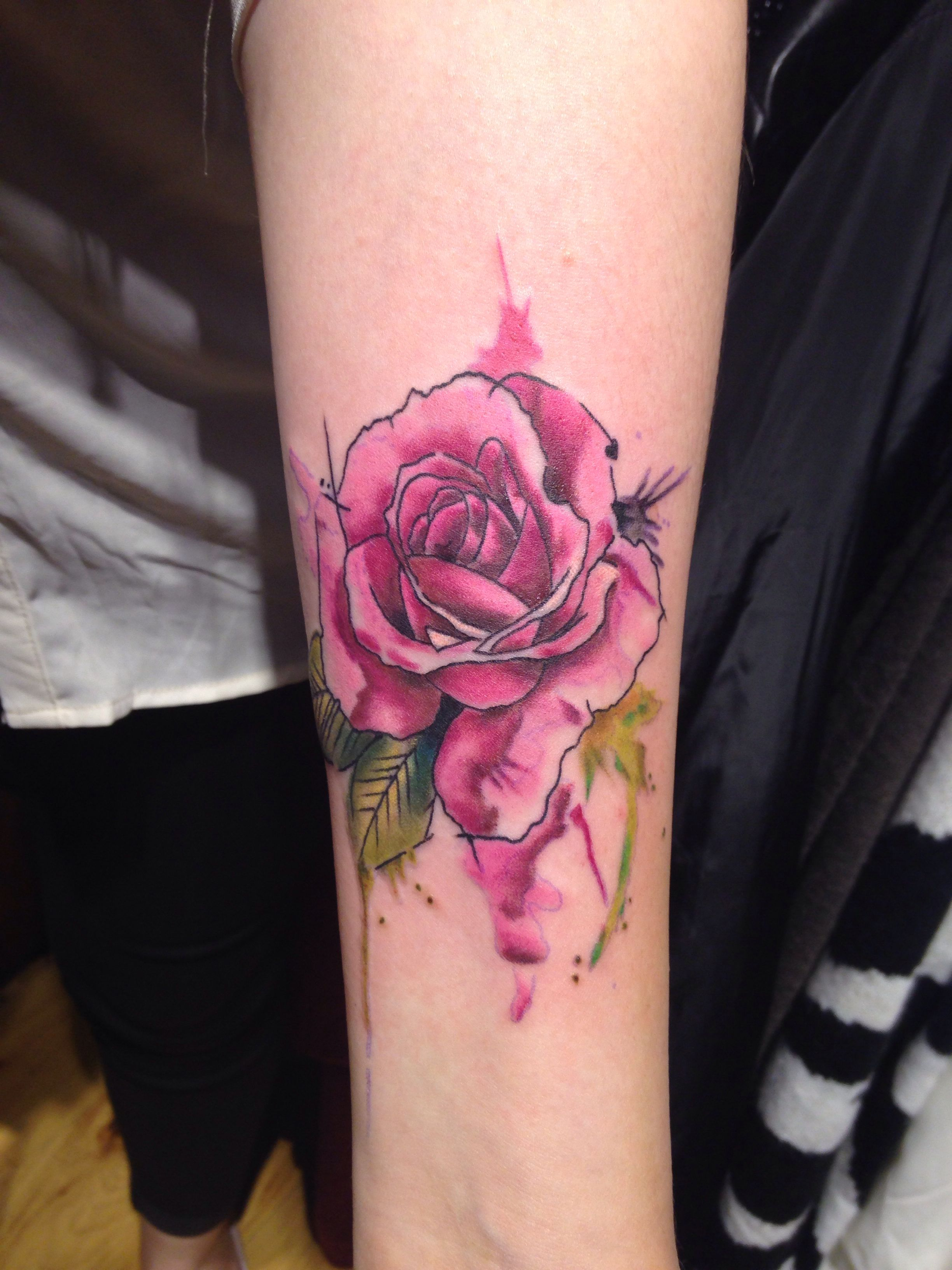 Watercolor Rose Tattoo Rose Tattoos Watercolor Rose Tattoos