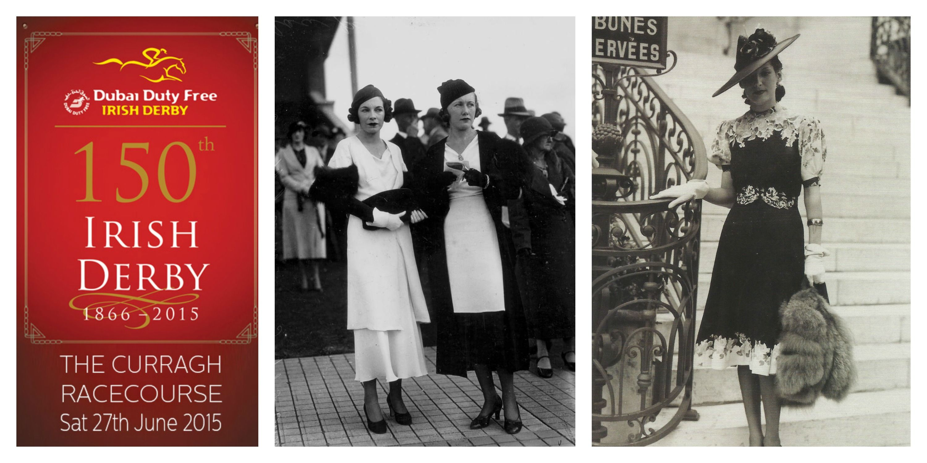 We're looking back 150 years of style at the Irish Derby! The fashion in the 1930s was just fabulous! #IrishDerby150