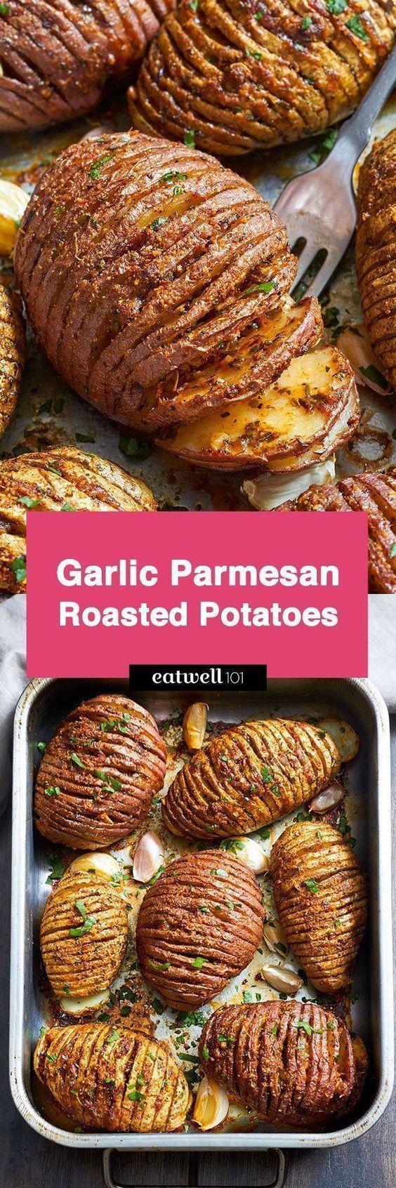 Garlic Parmesan Butter Roasted Potatoes
