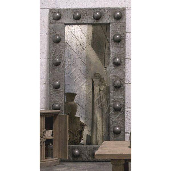 Gothic Studded Zinc Floor Mirror | .Our Home. | Pinterest | Floor ...