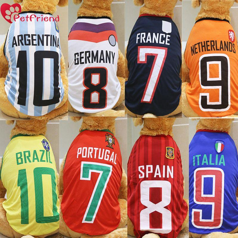Big Dog Shirt World Cup Soccer Jersey large size Pet Vest Football National  Team Sports Wear 397767549