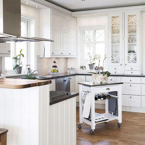 Cocinas y office | Cocina blanca, Suelos y Madera