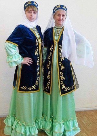 Татарский национальный костюм   Сценические наряды, Модные ...