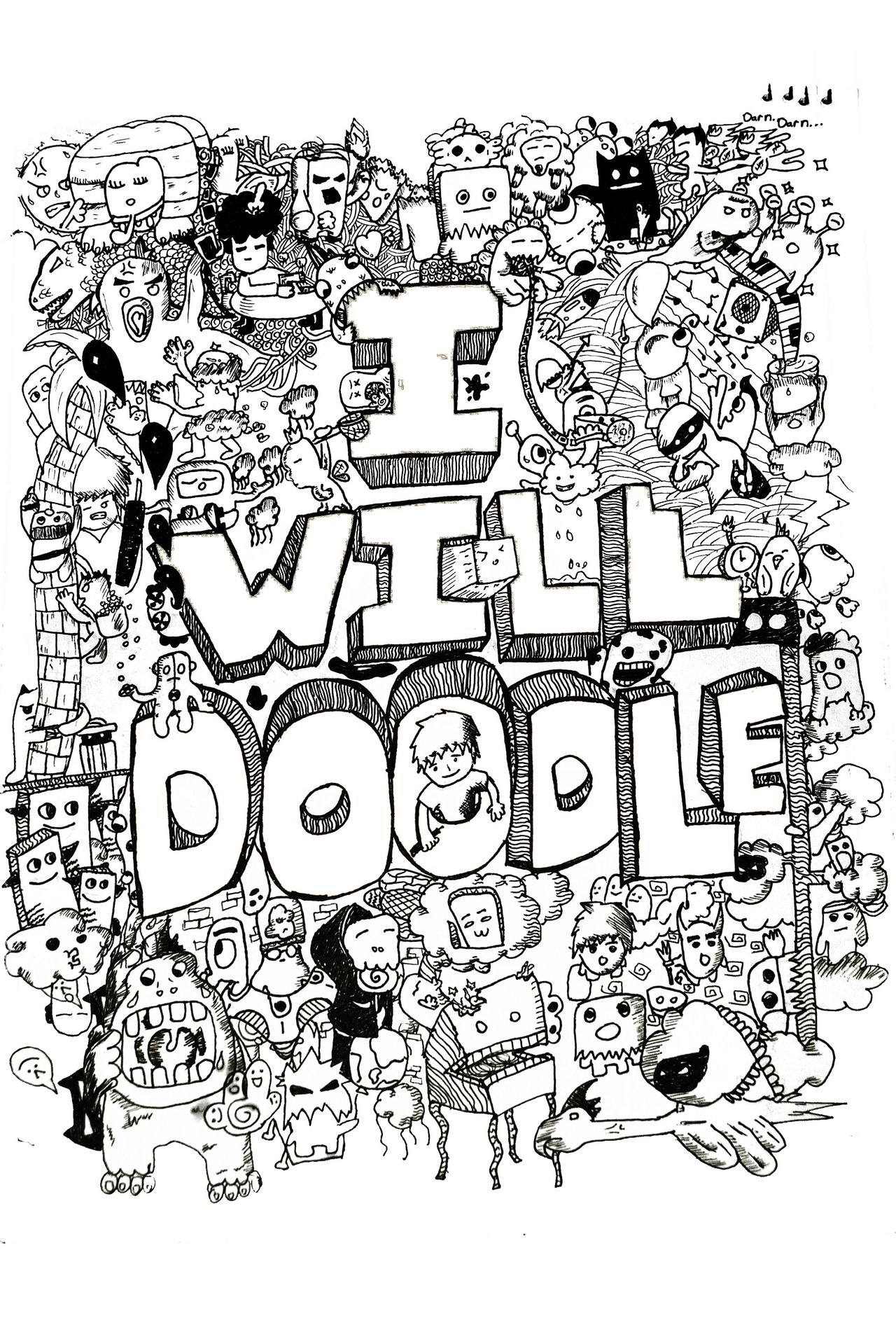 The indie coloring book - Doodle Invasion Coloring Book
