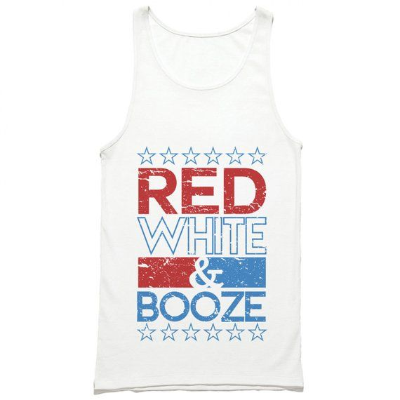15c3a4ef0fc81 Red White and Booze Tank Top - Funny 4th of July Tank Top - Red White and  Boozed Tank Top - USA Tank