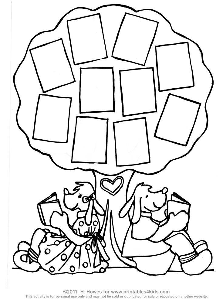 Tree of Books Reading Log : Printables for Kids