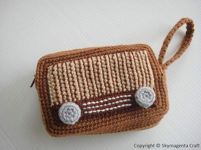 Ravelry: Crochet Pattern - VINTAGE RADIO PURSE pattern by Sky Magenta