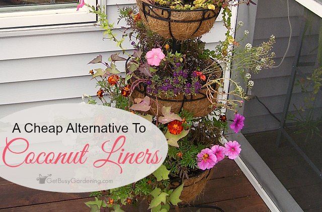 A Cheap Alternative To Coconut Liners For Hanging Baskets Planters Hanging Baskets Basket Planters Planter Liners