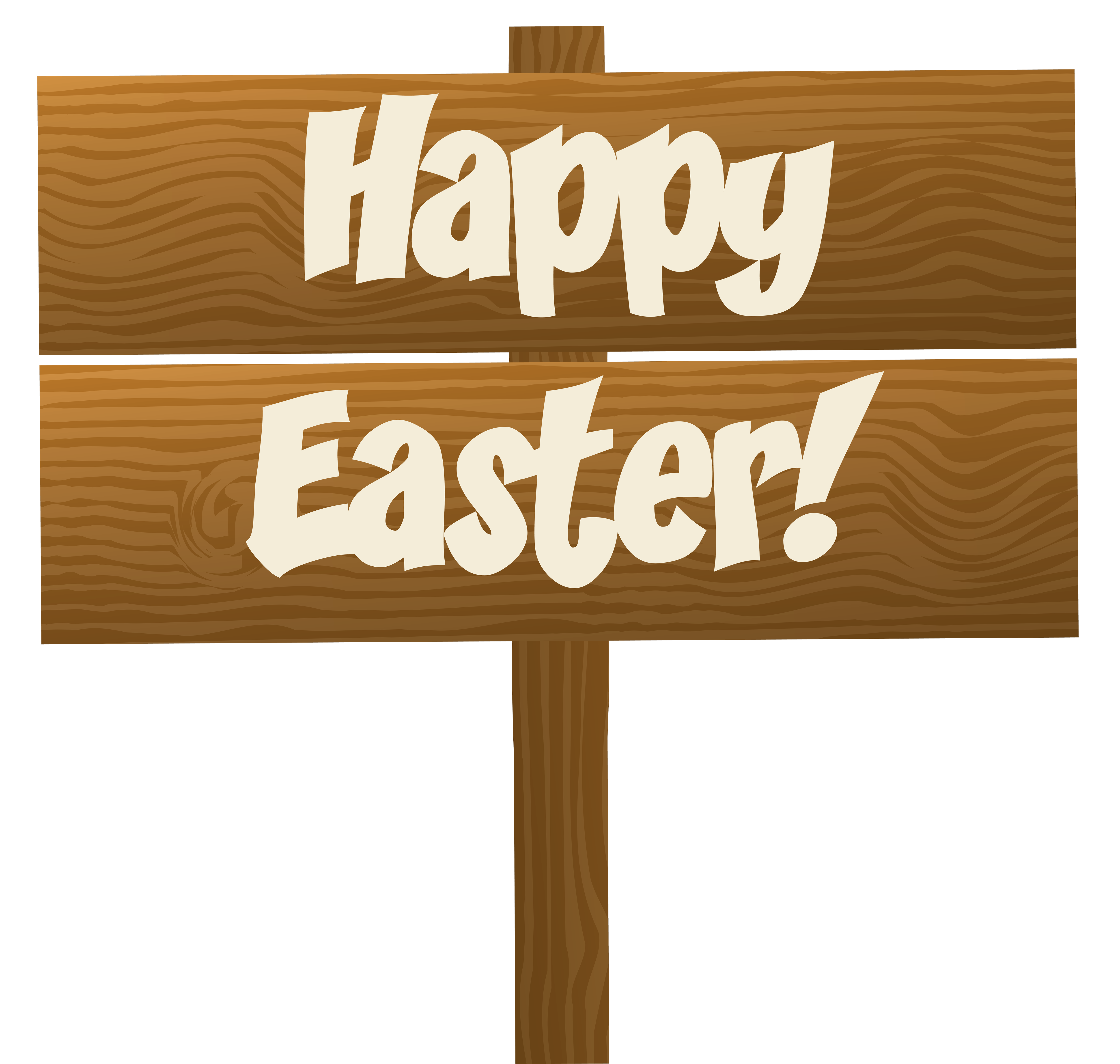 Happy Easter Wooden Sign Transparent Png Clip Art Image Happy Easter Sign Happy Easter Easter Signs