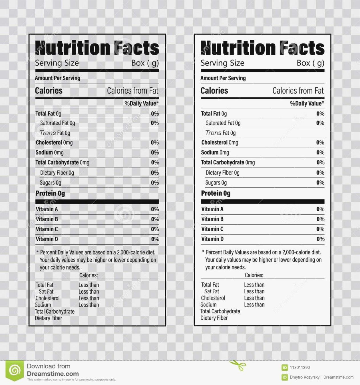 Nutrition Facts Label Template In 2020 Label Template Word Nutrition Facts Label Label Templates