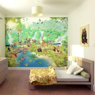 Jungle behang kinderkamer ciara 39 s kamer pinterest for Behang kamer