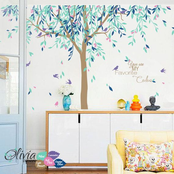 Large Willow Tree Vinyl Wall Decal Baby Nursery Decoration Sticker Nt017 On