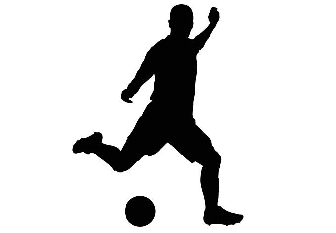 Soccer Player Clipart In 2020 Football Silhouette Silhouette Art Silhouette Painting