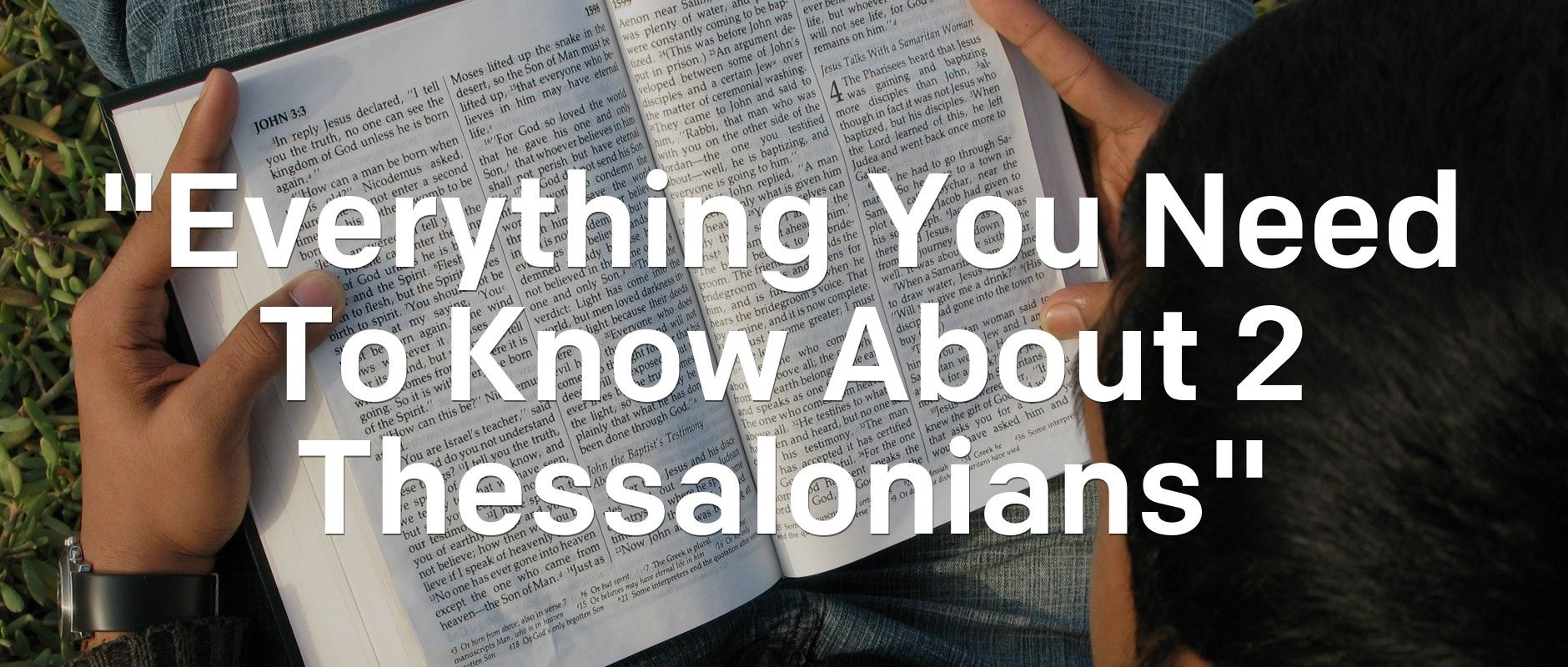 """Everything You Need To Know About 2 Thessalonians""  Context makes a difference in conversation, but also when we read the Bible. That's why we created  http://newspr.in/1M0fviH"