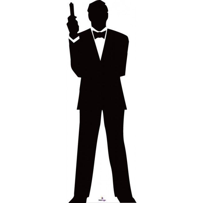 James Bond Silhouette 1 Cardboard Cutout Science Classroom James