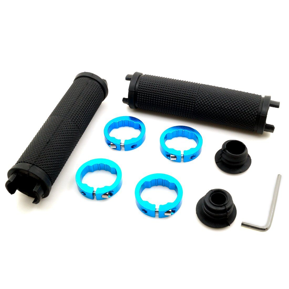 Non-Slip-Rubber Bicycle Handle Grip with Aluminum Lock Bike Handlebar