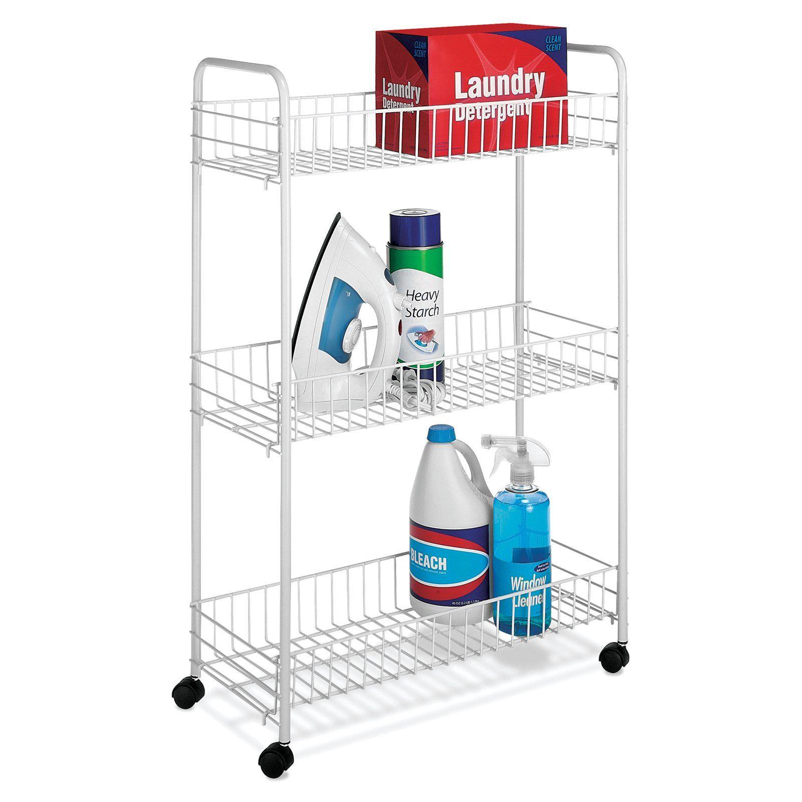 Whitmor Slim Household Cart In 2020 Laundry Cart Storage