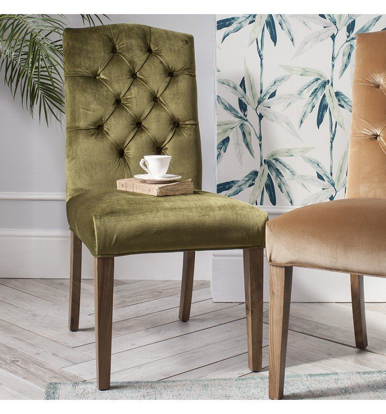Black Friday Sale: Hudson Living Hayden Green Velvet Dining Chair - Modish Living