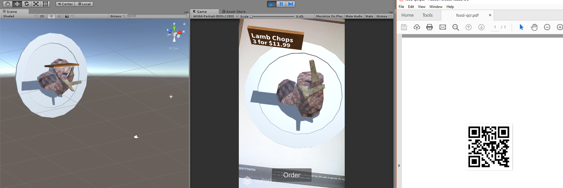 Augmented Reality Restaurant Food Menu App Unity3d Project Android
