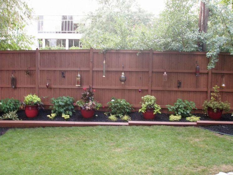 Outdoor Landscape Backyard Fences Landscaping Along Fence Outdoor Landscaping