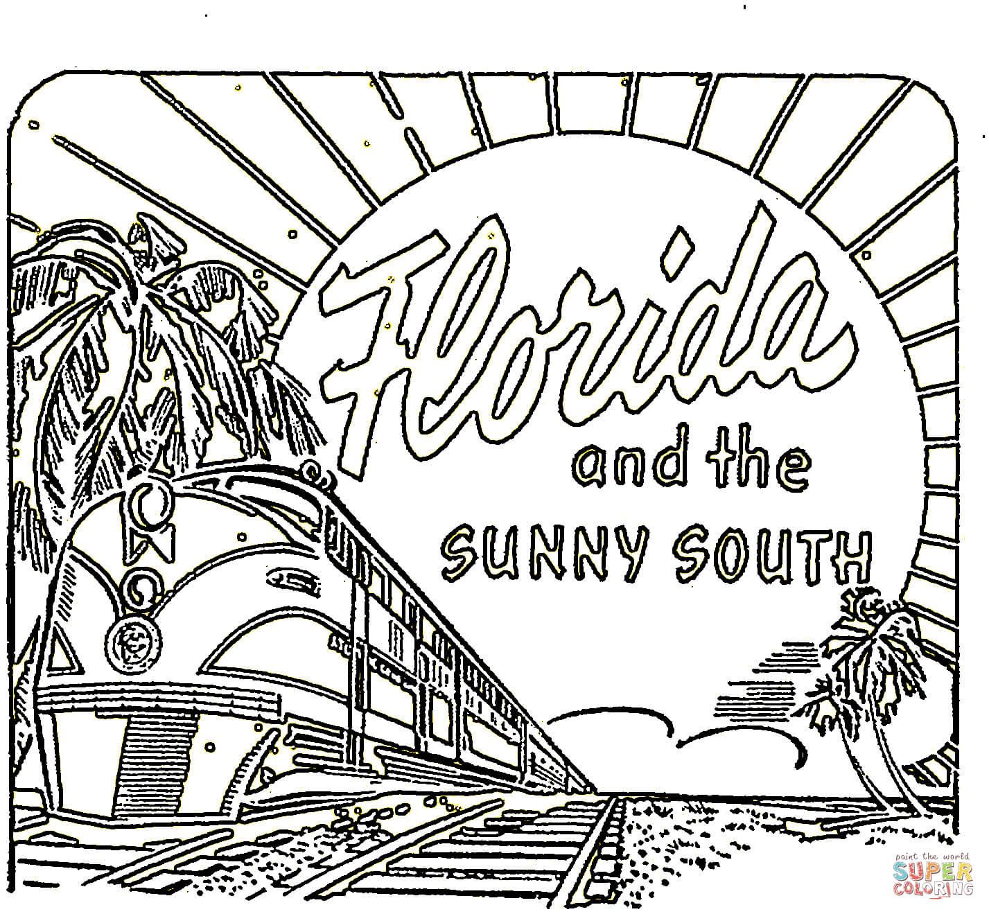 Image result for florida state flower coloring page flag