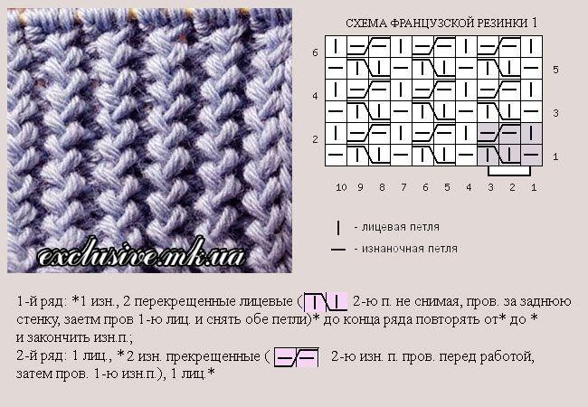резинки иностранки спицами узоры спицами вязание ручное