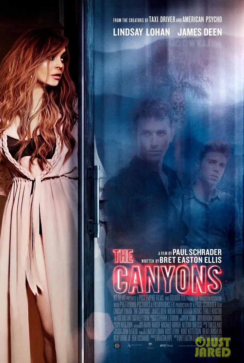"Lindsay Lohan's ""The Canyons"" new film poster! (With"