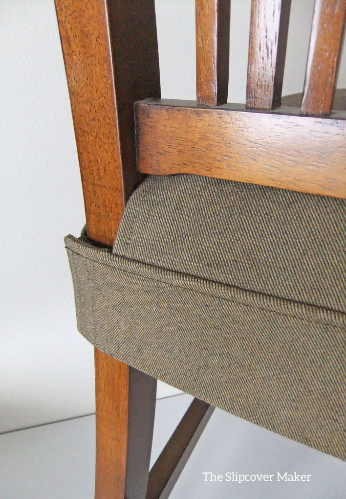 Tailored Denim Seat Covers  Pams Dining Chair Slipcovers