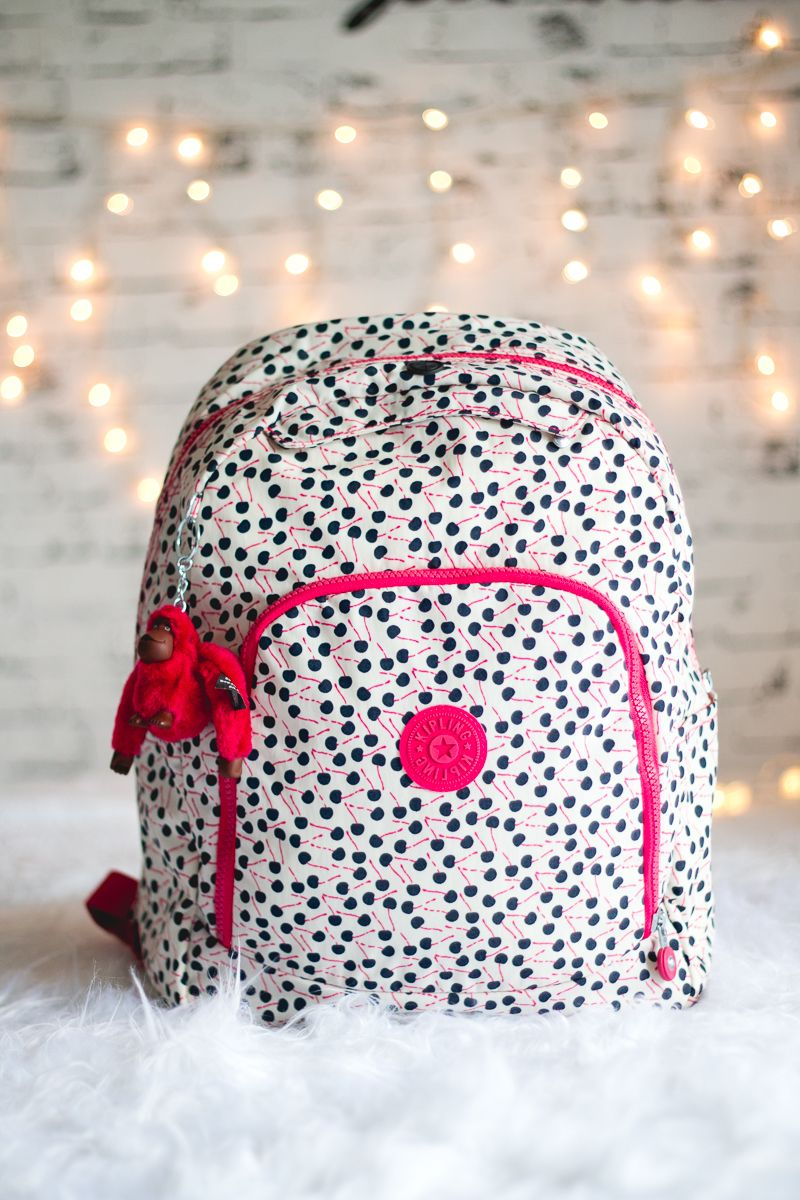 Bolsa De Ombro Preta Gwendolyn B Kipling : Mochila cherry stripe http kipling