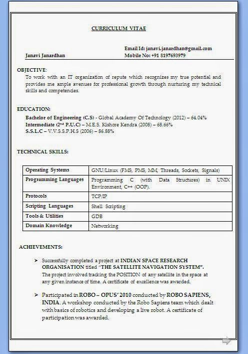 biodata download Sample Template Example ofExcellent Curriculum - Job Resume Format Download