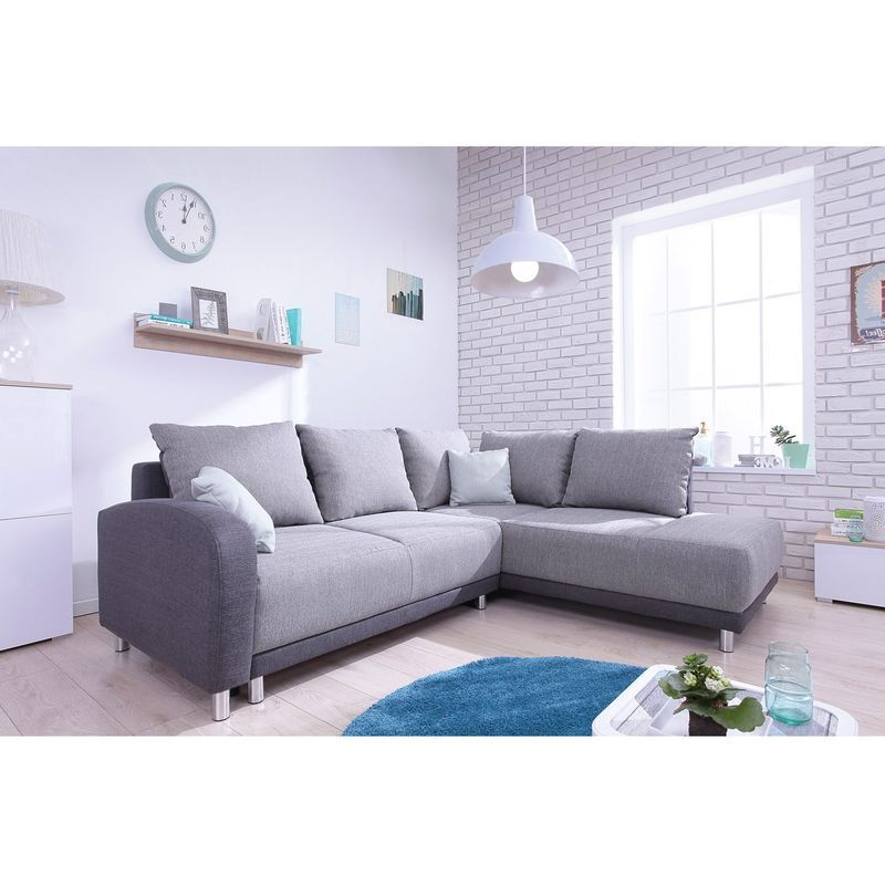 Minty Grand Angle Droit Canape 5 Places Convertible Scandinave