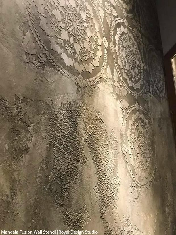JawDropping Wall Plaster Finishes with Stencils