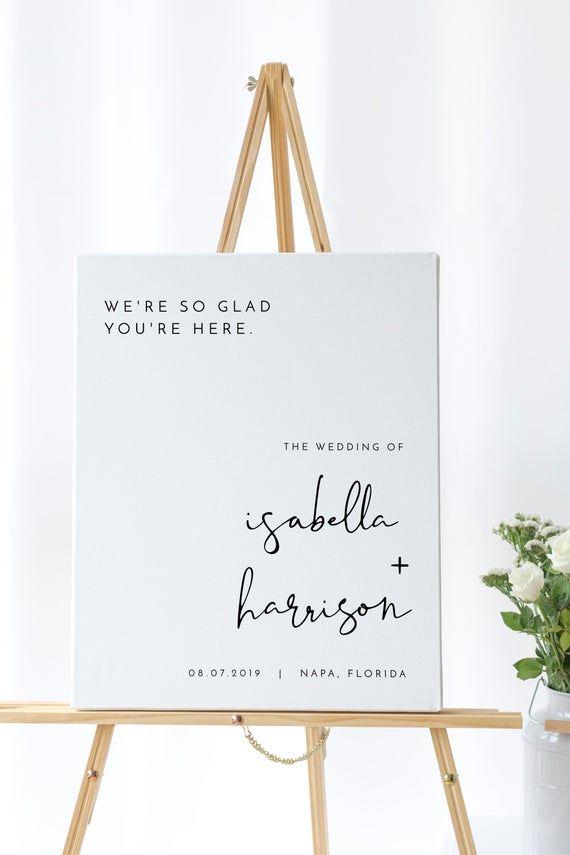 Adella - Minimalist Wedding Welcome Sign Template, Modern Wedding Welcome Sign, Printable Welcome Sign Wedding, Templett Wedding Sign #weddingwelcomesign